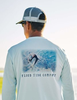 FLOOD TIDE CO Flood Tide Company Solar Shirt - Tarpon Jump