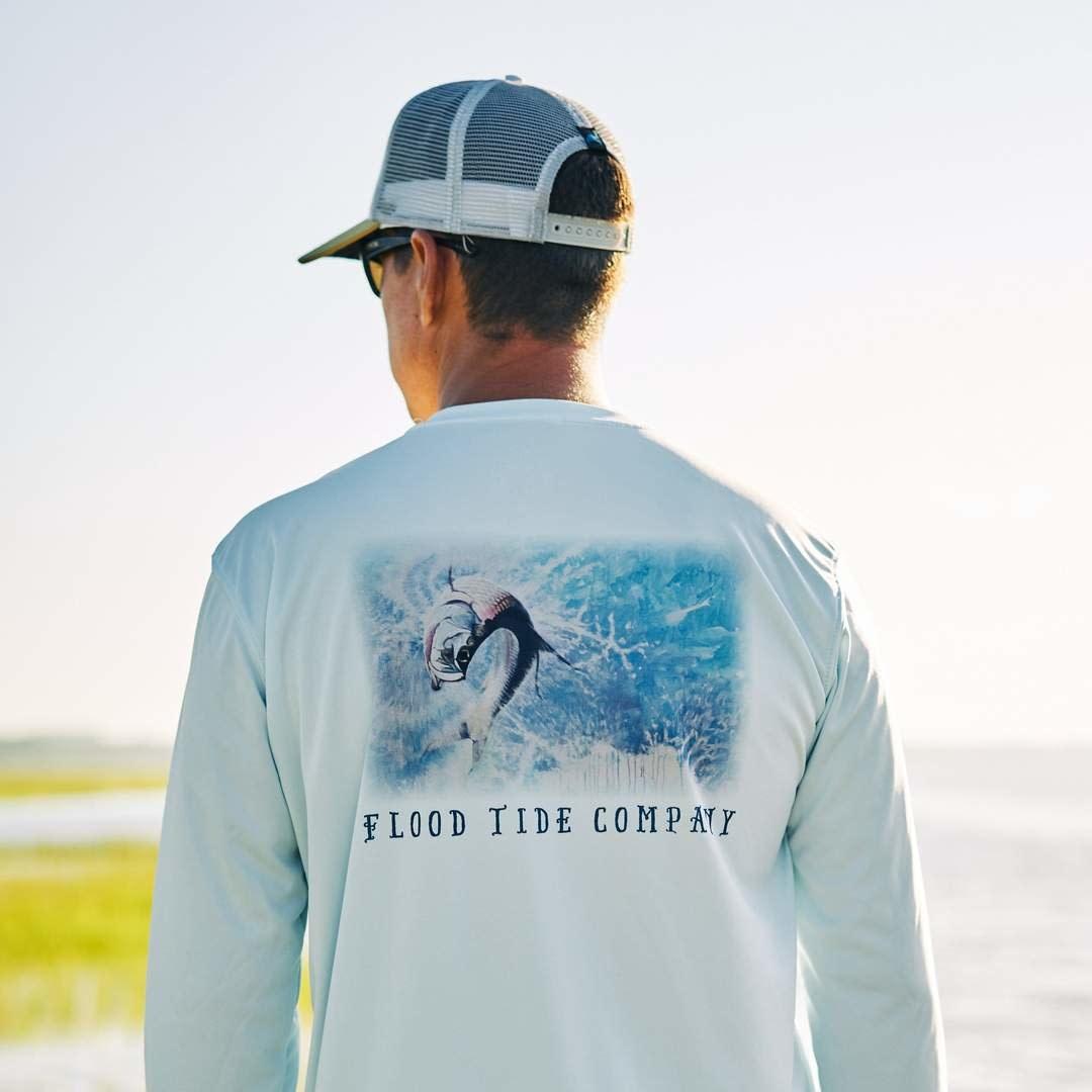 FLOOD TIDE CO Flood Tide Company Crewneck Solar Shirt Tarpon