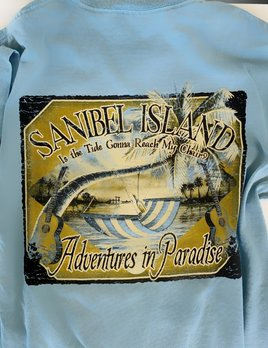 High Range Sanibel Island Tshirt Flint Hammock - Ice Blue