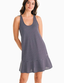 Southern Tide Southern Tide Lyla Knit Performance Dress - Navy Stripe