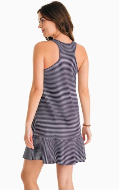 Southern Tide Southern Tide Lyla Knit Performance Dress - Navy Stripe