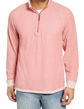 TOMMY BAHAMA Tommy Bahama Barrier Beach Reversible Half Zip Sweater - MULTIPLE COLORS