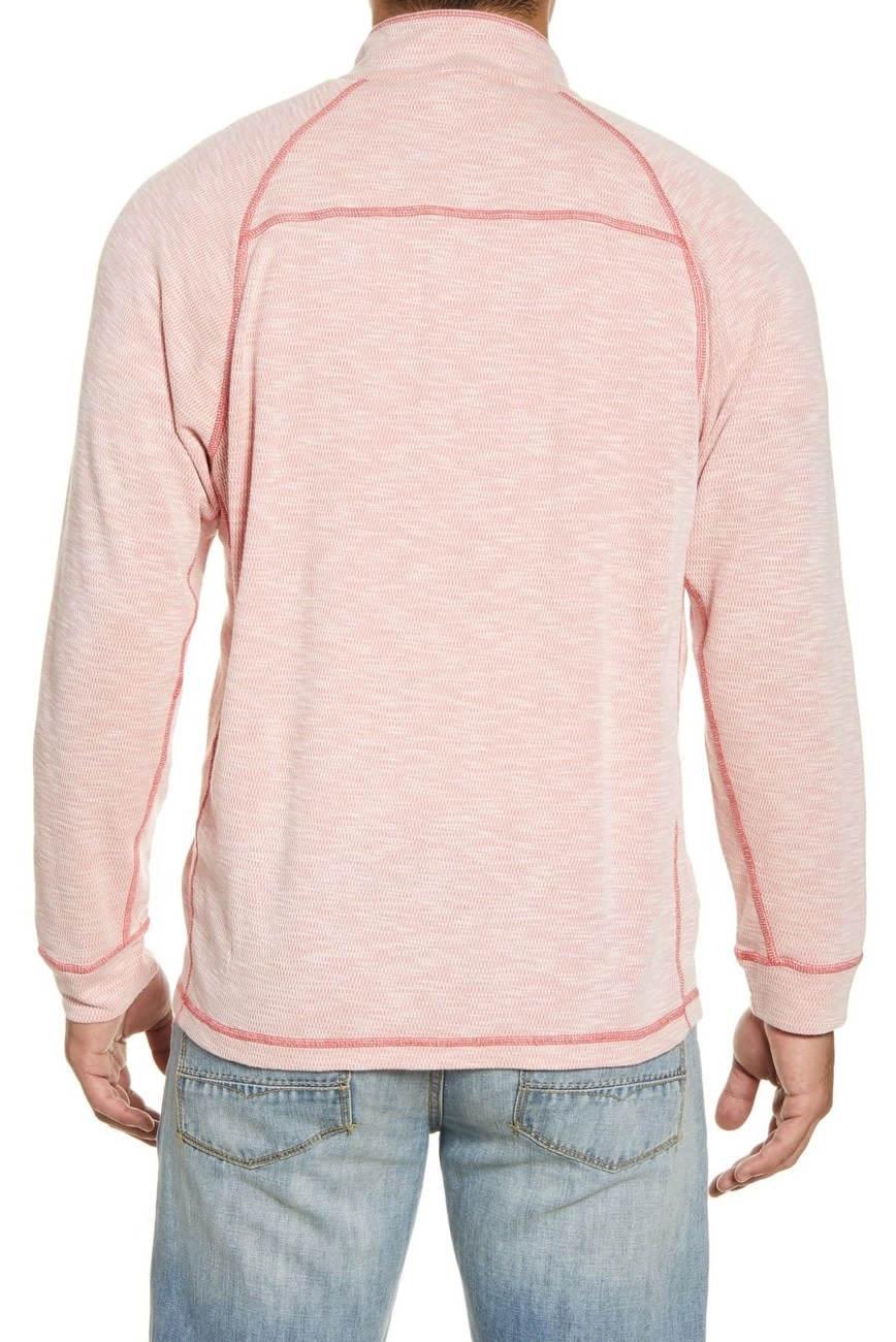TOMMY BAHAMA Tommy Bahama Barrier Beach Reversible Half Zip Sweater