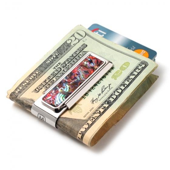 M. CLIP M-Clip Money Clip Abalone - Orange