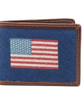 HARDING-LANE Needle Point American Flag Wallet