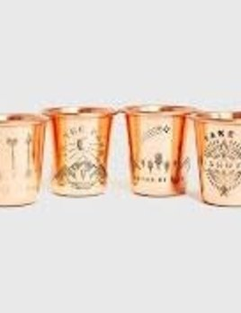 UNITED BY BLUE United By Blue Set of 4 Copper Shot in the Dark Shot Glass Set