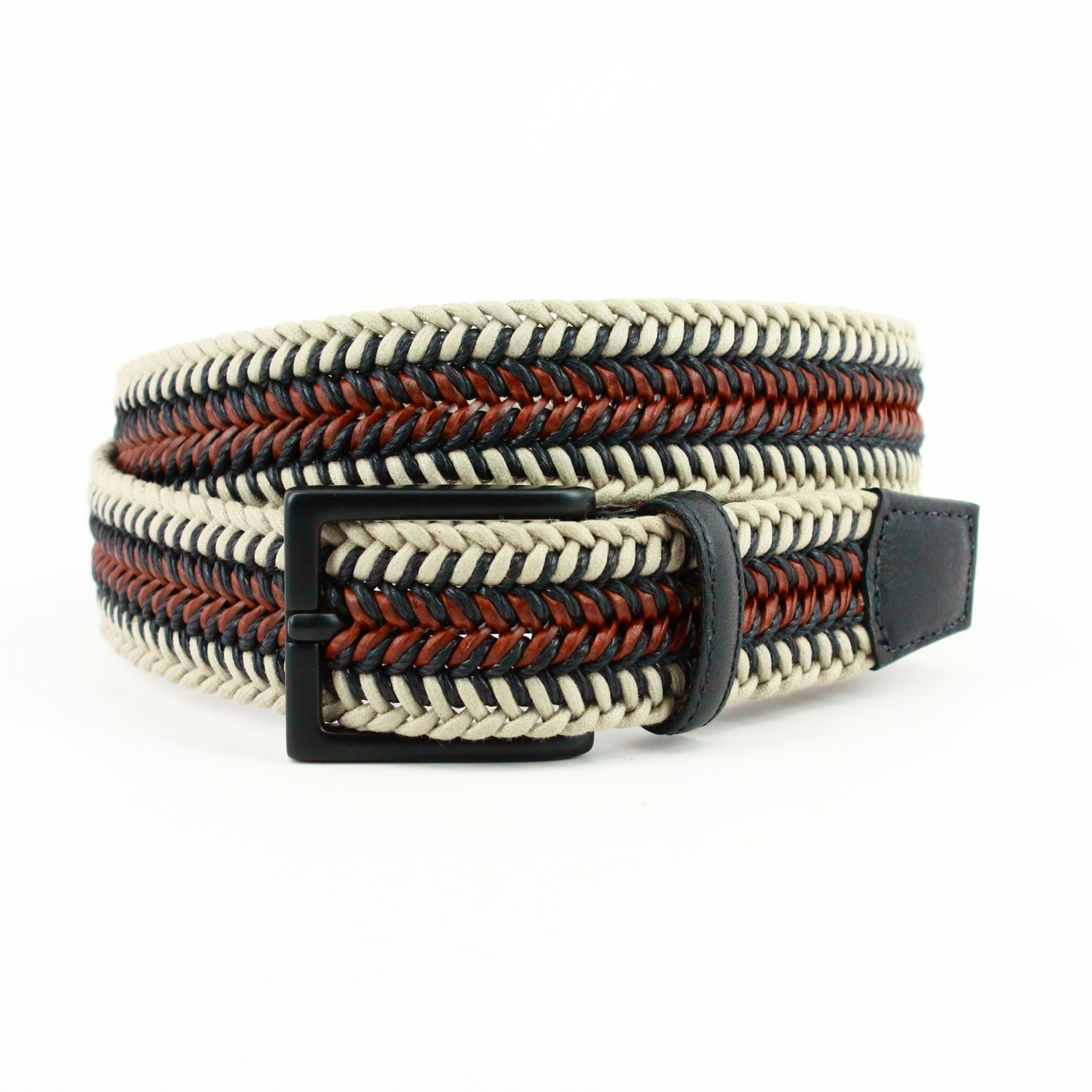 TORINO LEATHER COMPANY Torino Italian Leather & Cotton Belt
