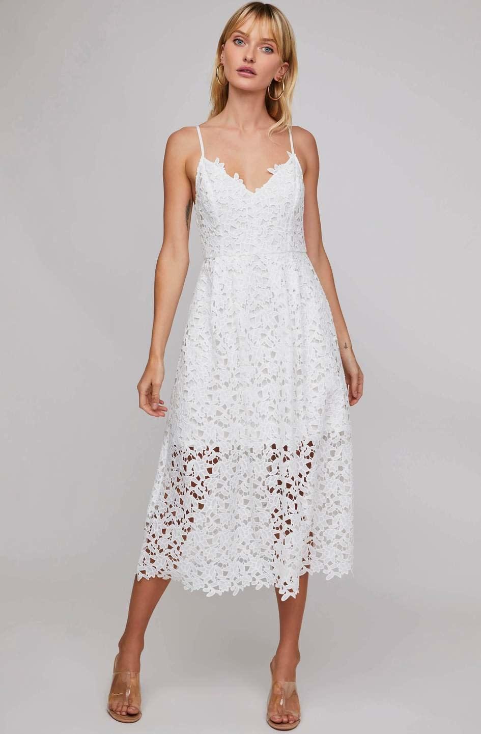 Dex Dex Thin Strap Lace Dress