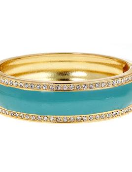 FORNASH Fornash Hinged Tropical Bracelet - Globe Aqua