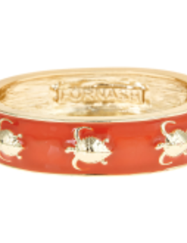 FORNASH Fornash Hinged Tropical Bracelet - Turtle Castaway Orange