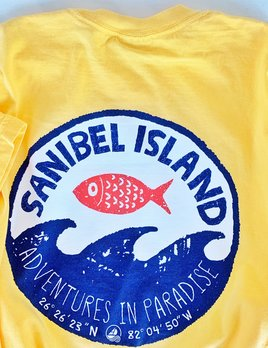 BIG HED DESIGNS Sanibel T-shirt Big Hed Stamp Wave