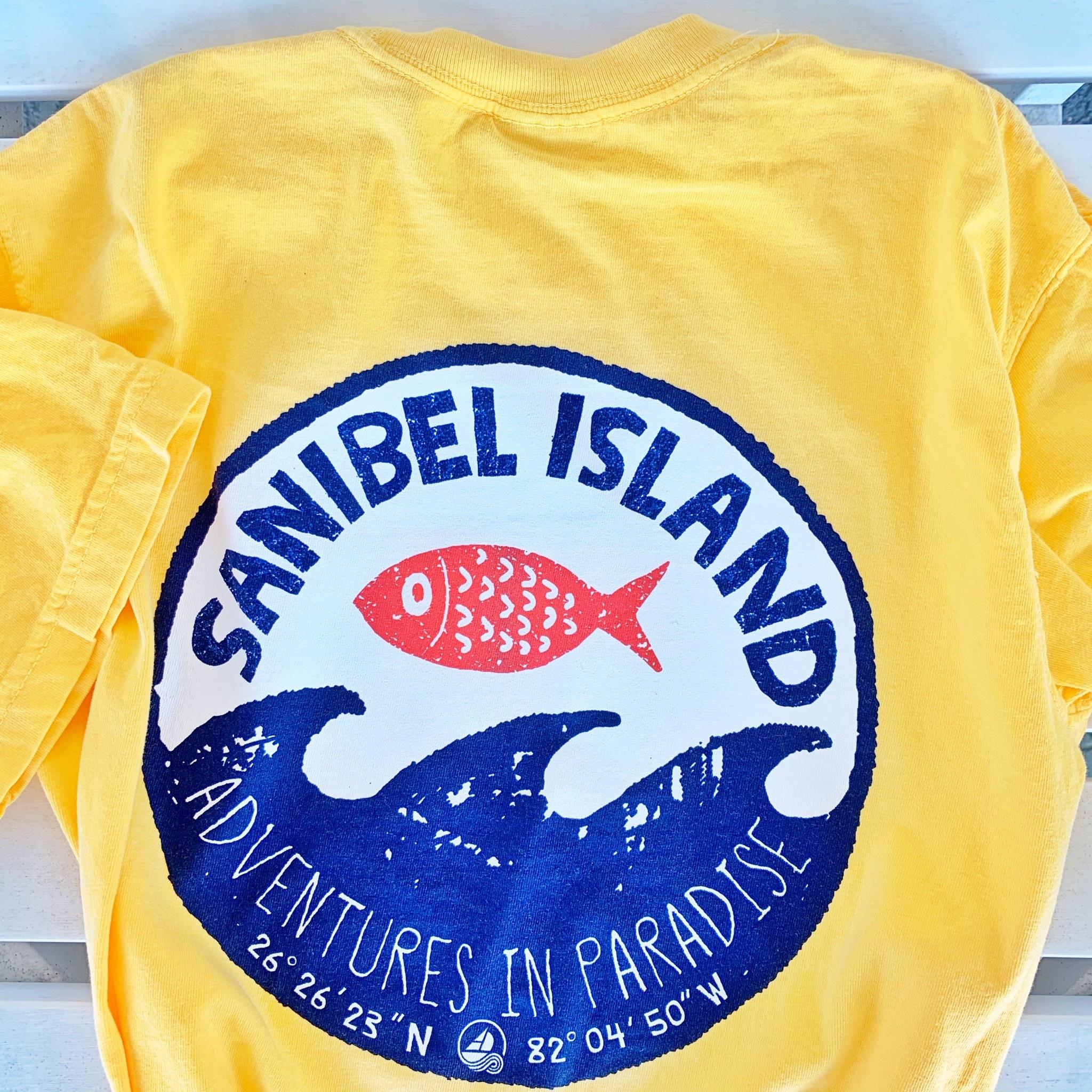 BIG HED DESIGNS Sanibel T-shirt Big Hed Stamp Wave