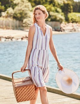 TOMMY BAHAMA Tommy Bahama String of Silver Short Sundress