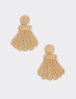 VINEYARD VINES Vineyard Vines Raffia Scallop Shell Earrings