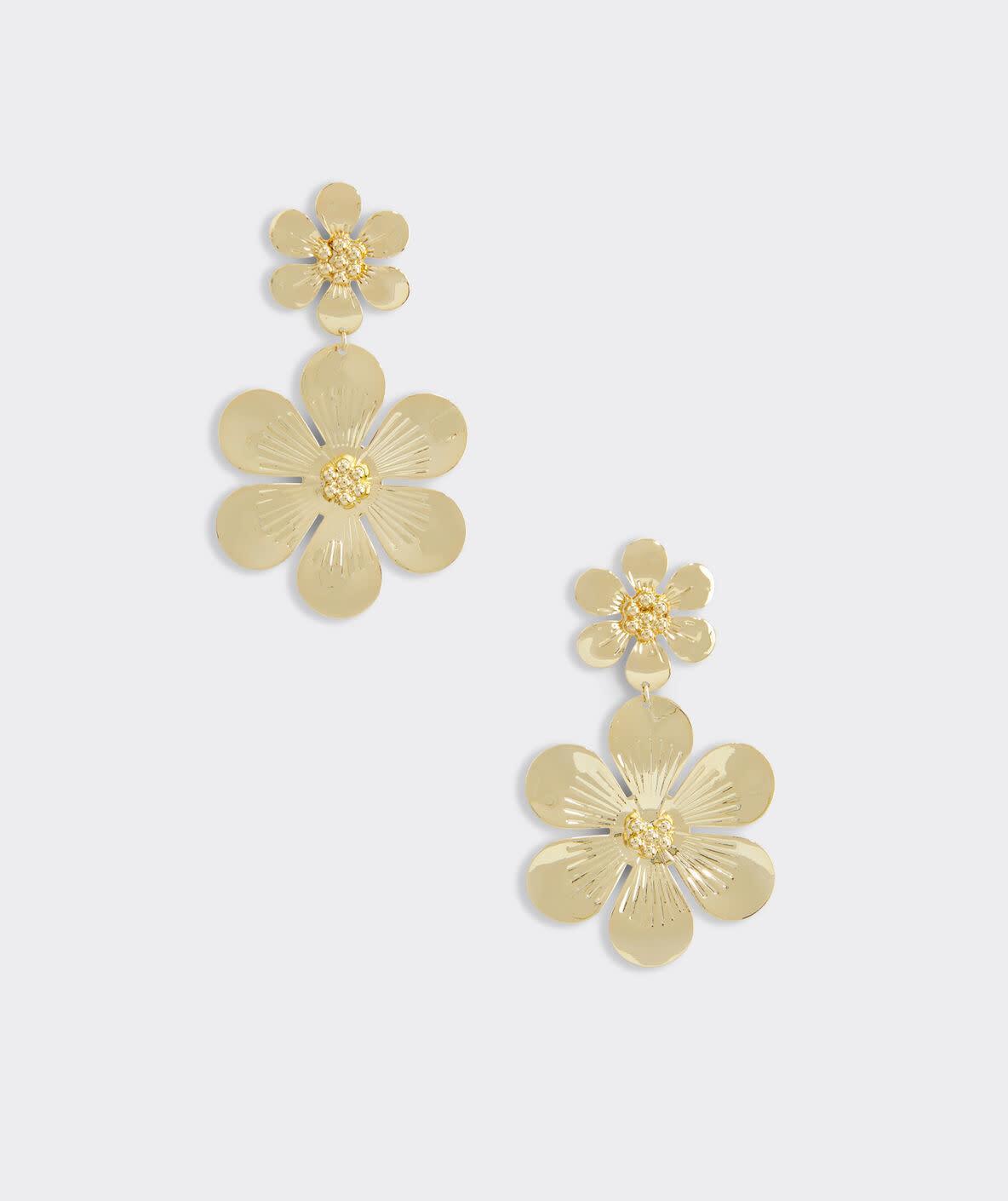 VINEYARD VINES Vineyard Vines Allamanda Floral Earrings
