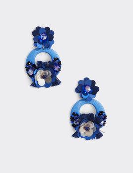 VINEYARD VINES Vineyard Vines Floral Beaded Raffia Earrings