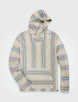 Faherty Faherty Sweater Baja Beach Poncho - DEL NORTE STRIPE
