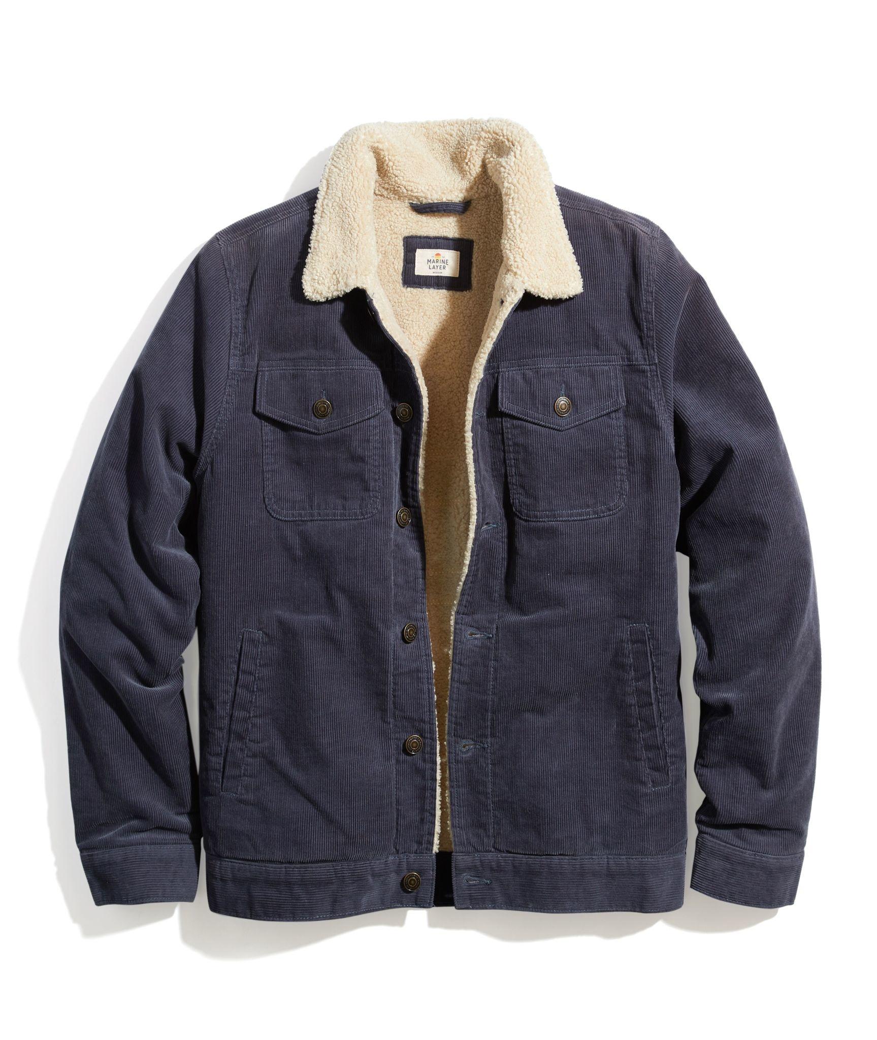 Marine Layer Marine Layer Boise Cord Sherpa Trucker Jacket