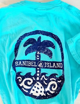 BIG HED DESIGNS Big Hed Distressed Palm Sanibel T-shirt