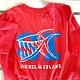 BIG HED DESIGNS Big Hed White Outline Piranha Sanibel T-shirt