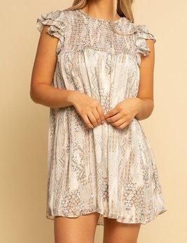 Shore Shore Smocked Top Babydoll Dress