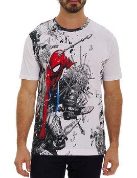ROBERT GRAHAM Robert Graham Spiderman Shirt Ninja Battle