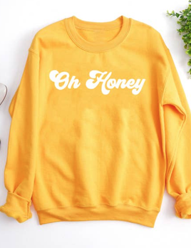 The Funnel Cake Tree The Funnel Cake Tree Oh Honey Crewneck Sweater
