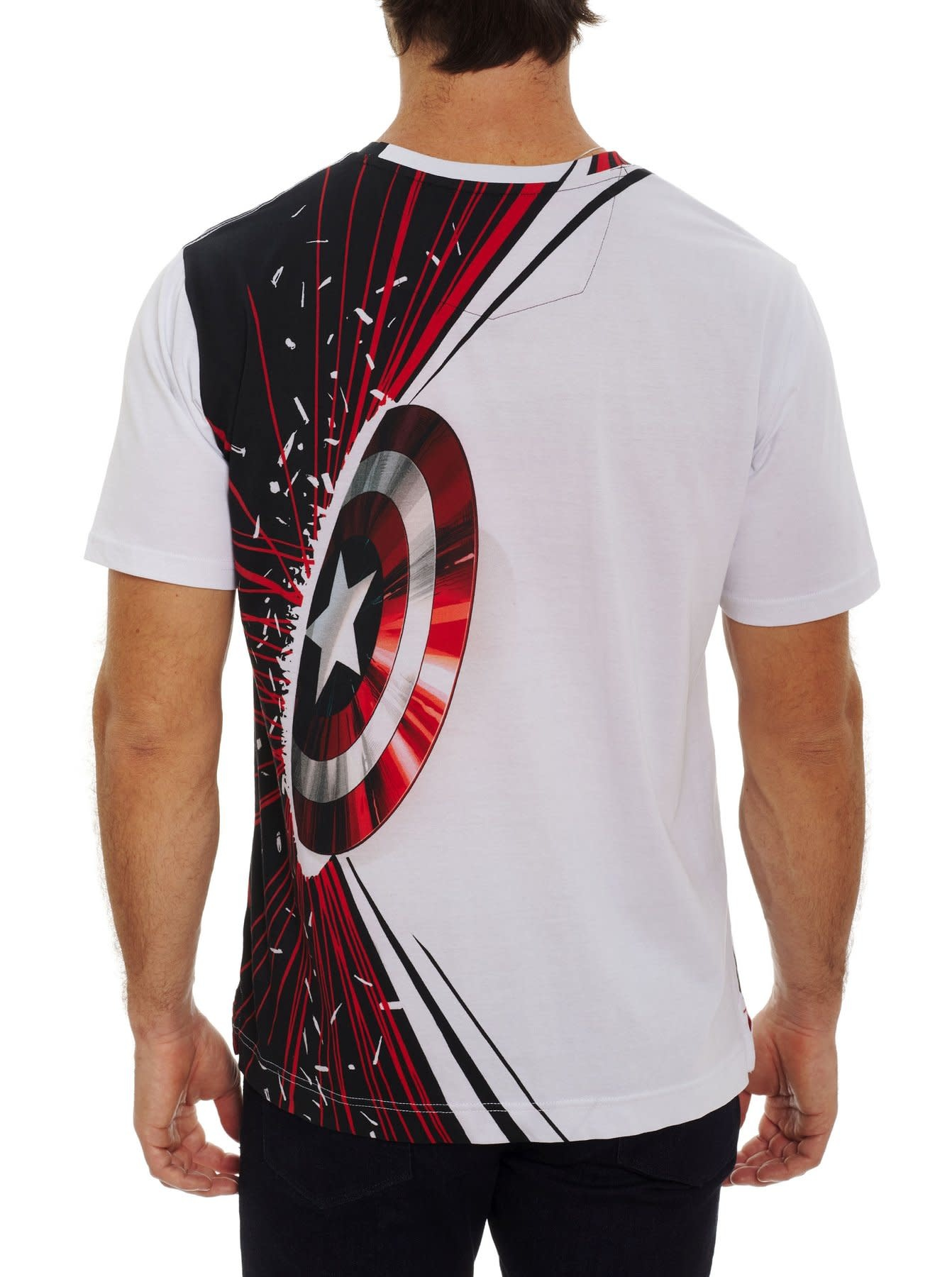 ROBERT GRAHAM Robert Graham Captain America Tshirt Courage & Power