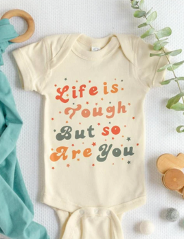 The Funnel Cake Tree The Funnel Cake Tree Life is Tough But So Are You Onesie