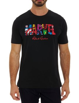 ROBERT GRAHAM Robert Graham x Marvel Team Up Tshirt