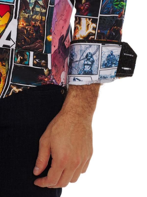 ROBERT GRAHAM Robert Graham Avengers Unite Button Up