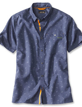 ORVIS Orvis Printed Tech Chambray Short Sleeve Shirt