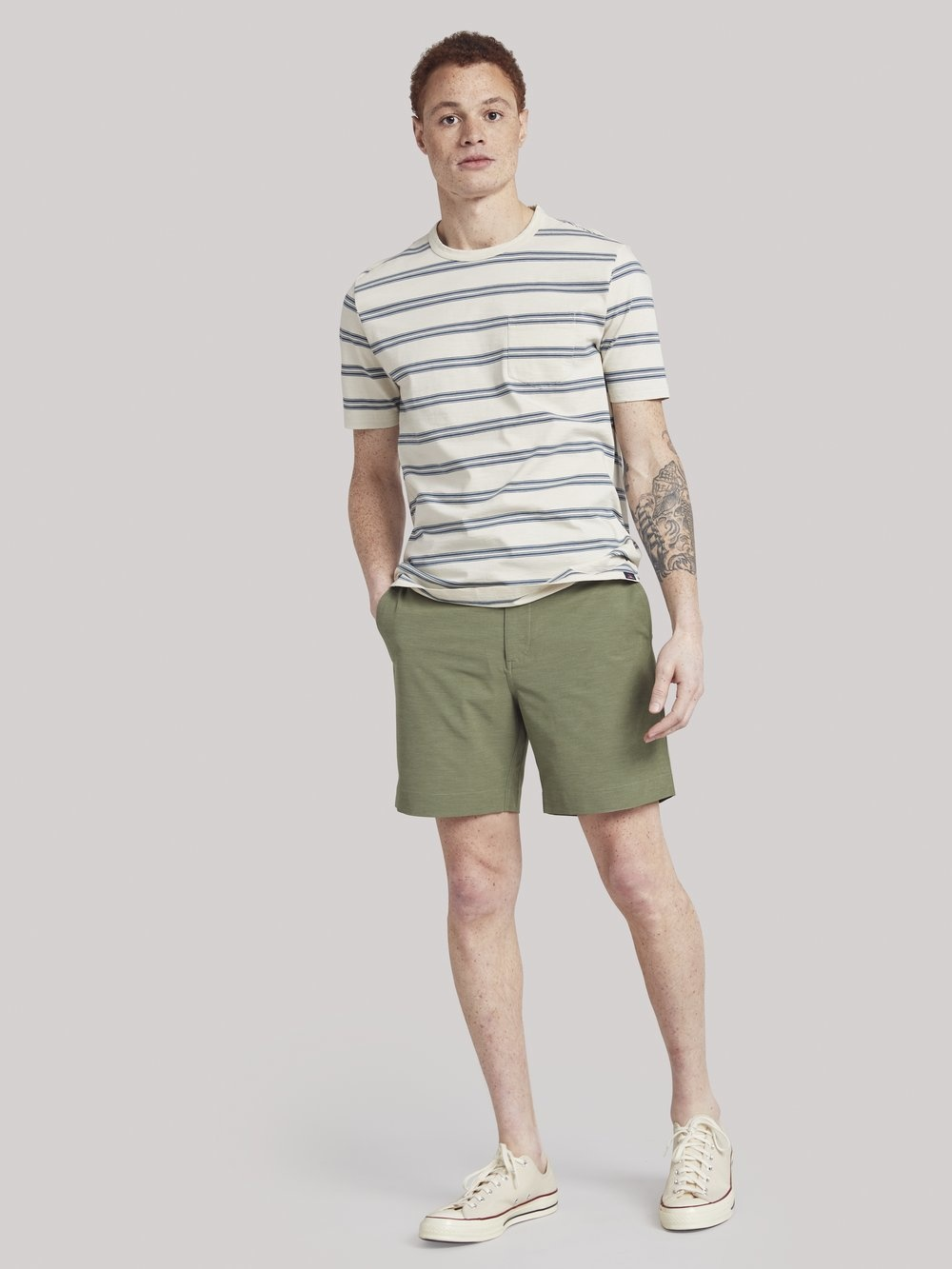 Faherty Faherty Surfrider Stripe Tee Surfwashed