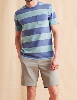 Faherty Faherty Rugby Stripe Pocket Tee
