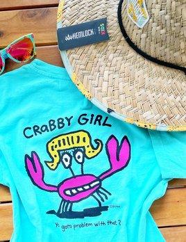 BIG HED DESIGNS Sanibel Youth Crabby Girl Tee