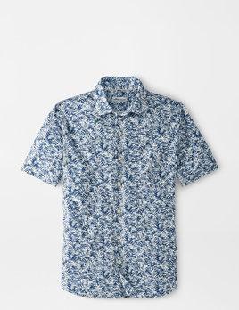 PETER MILLAR Peter Millar Whitepalm Cotton Blend Sport Shirt