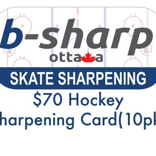 b-sharp ottawa $70 Hockey Sharpening Card