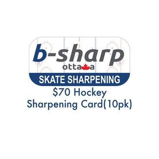 b-sharp ottawa $70 Hockey Sharpening Card