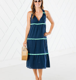 SAIL TO SABLE TIERED MIDI DRESS