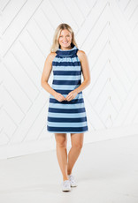 SAIL TO SABLE COWL NECK DRESS