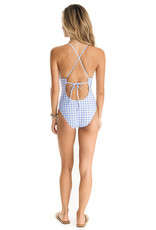 SOUTHERN TIDE CARMELINA GINGHAM 1 PIECE SWIMSUIT