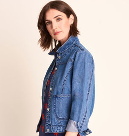 HATLEY CROPPED DENIM JACKET