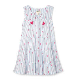 LITTLE BLUE HOUSE (HATLEY) GIRLS TIERED DRESS