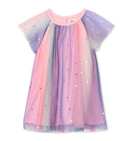 LITTLE BLUE HOUSE (HATLEY) HEARTS BABY RAINBOW TULLE DRESS