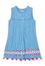 LITTLE BLUE HOUSE (HATLEY) PIN TUCK DRESS