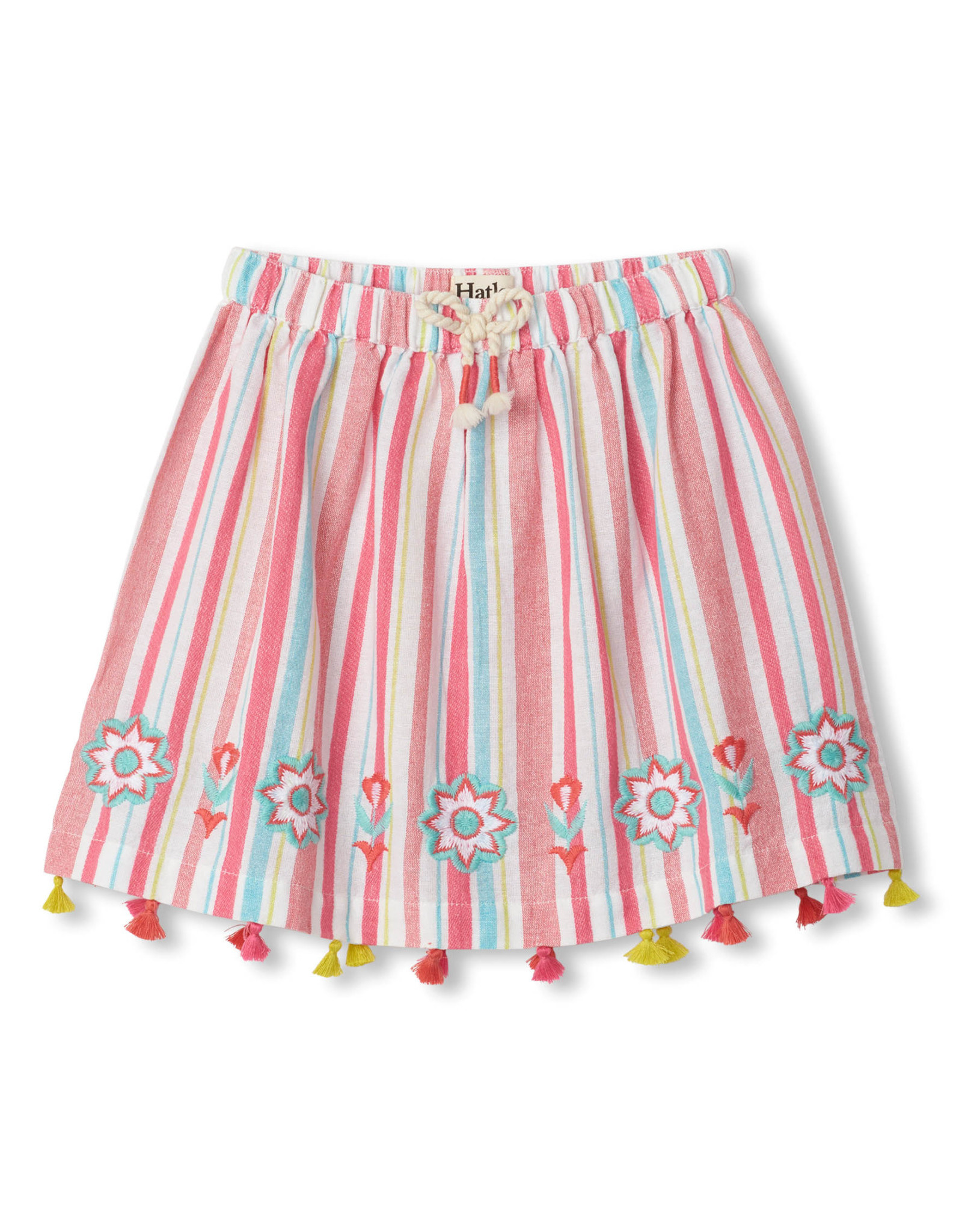 LITTLE BLUE HOUSE (HATLEY) PINK LEMONADE TASSEL SKIRT