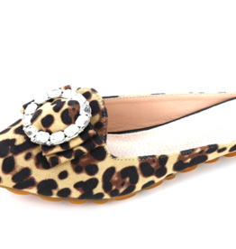 HELENS HEART LEOPARD CLOSED TOE SLIDE