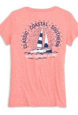 SOUTHERN TIDE HEATHERED FITTED TEES