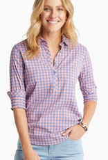 SOUTHERN TIDE HADLEY IC POPOVER BEACH BREAK GINGHAM