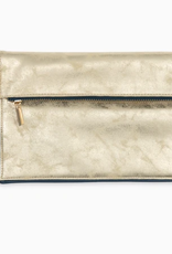 SOUTHERN TIDE GOLD CLUTCH